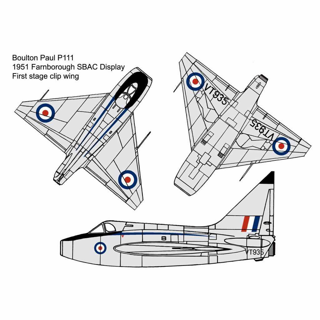 【新製品】144004 ボルトンポール P111/P111A デルタ翼実験機