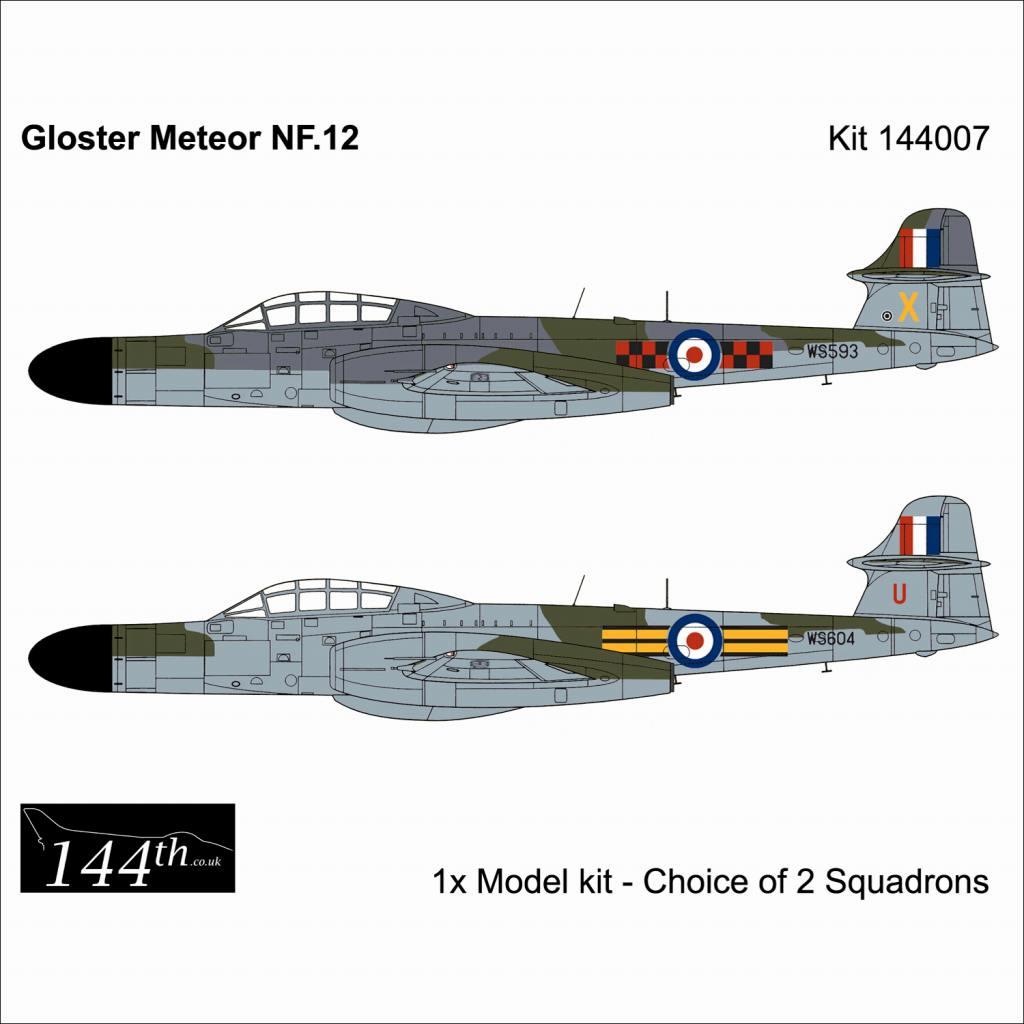 【新製品】144007 グロスター ミーティア NF.12