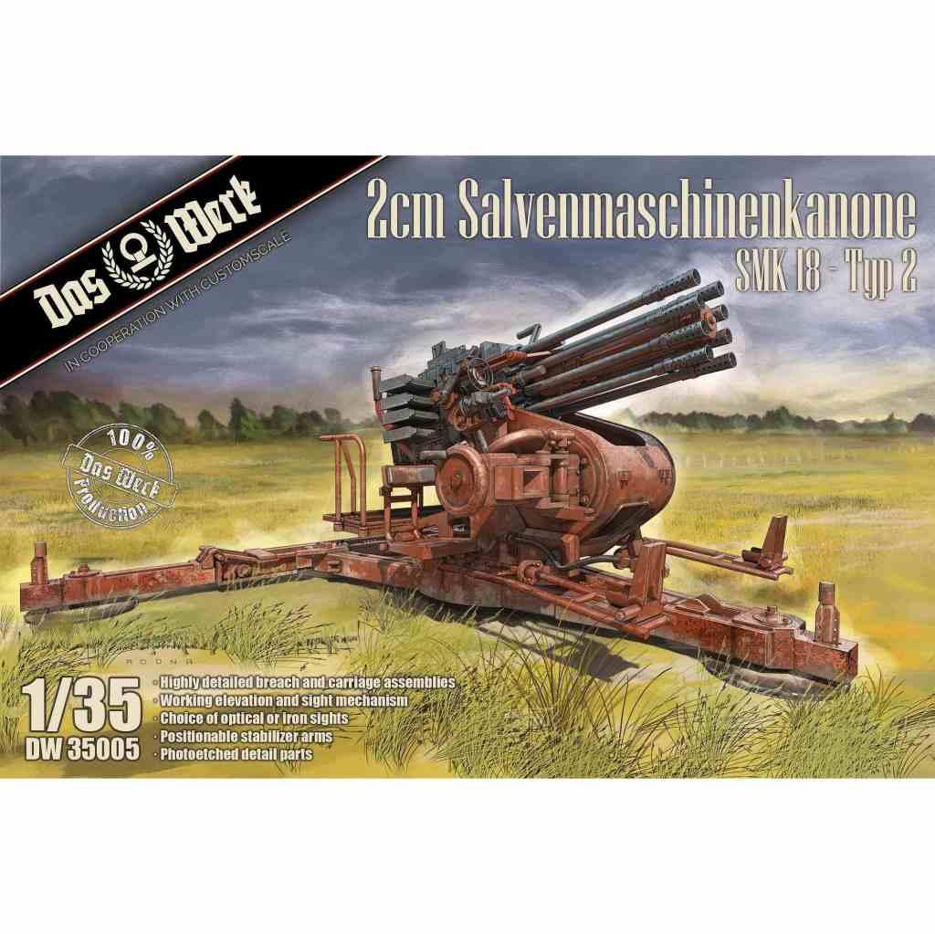 【新製品】DW35005 2cm 斉射機関砲 SMK18 タイプ2