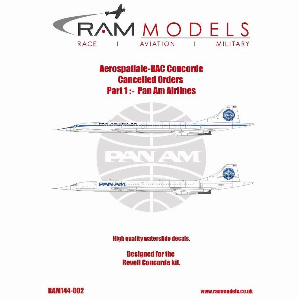 【新製品】144-002 アエロスパシアル-BAC コンコルド キャンセルオーダー Pt.1 パンアメリカン航空