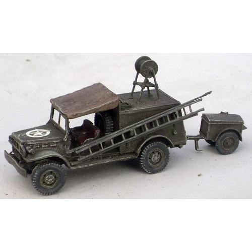 【新製品】GI 036 WWII アメリカ ダッジ WC-59 電話線修理工兵車 w/K38 トレーラー