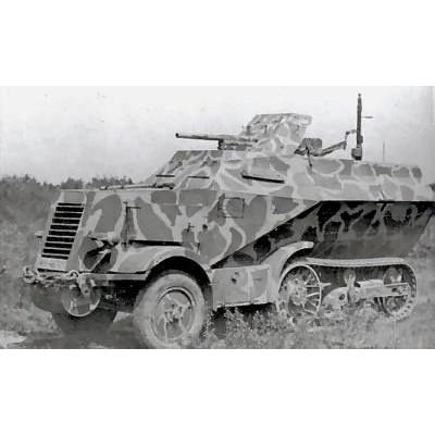 【新製品】DBLS 24 WWII ドイツ ユニック P107U 304(f) ハーフトラック 3.7cm Pak36搭載型