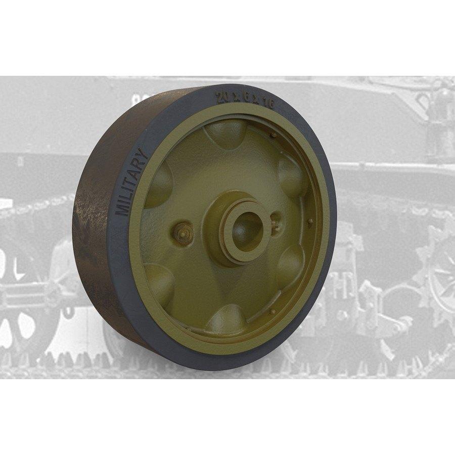 【新製品】FM35004 M5A1軽戦車/M8自走砲用スタンプスポーク(プレス型)転輪セットB