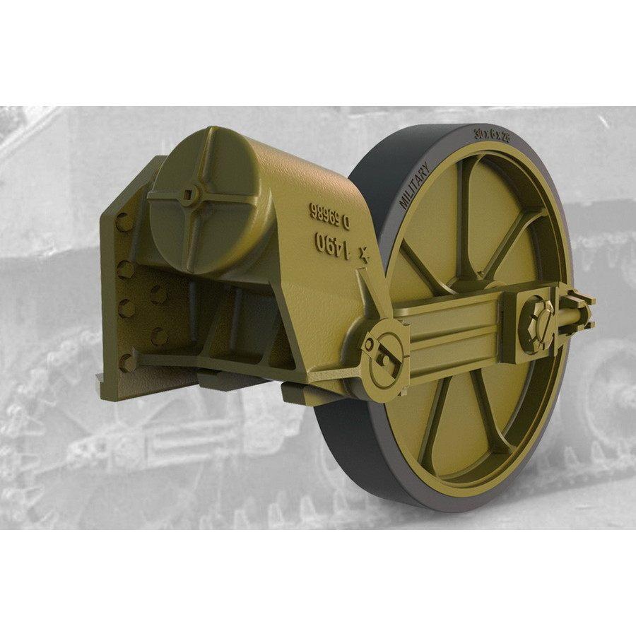 【新製品】FM35011 M5A1軽戦車/M8自走砲用ゴム付誘導輪&サスペンション後期型セット