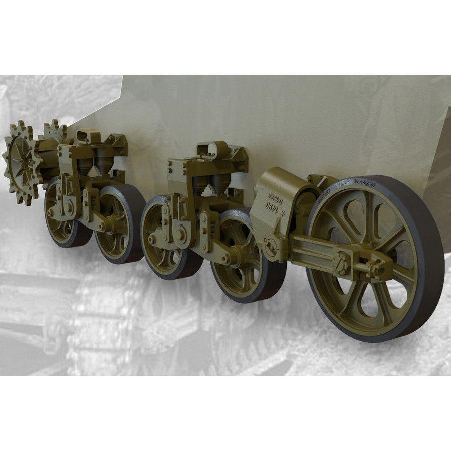 【新製品】FM35014 M5/M5A1軽戦車/M8自走砲用転輪&サスペンションセット