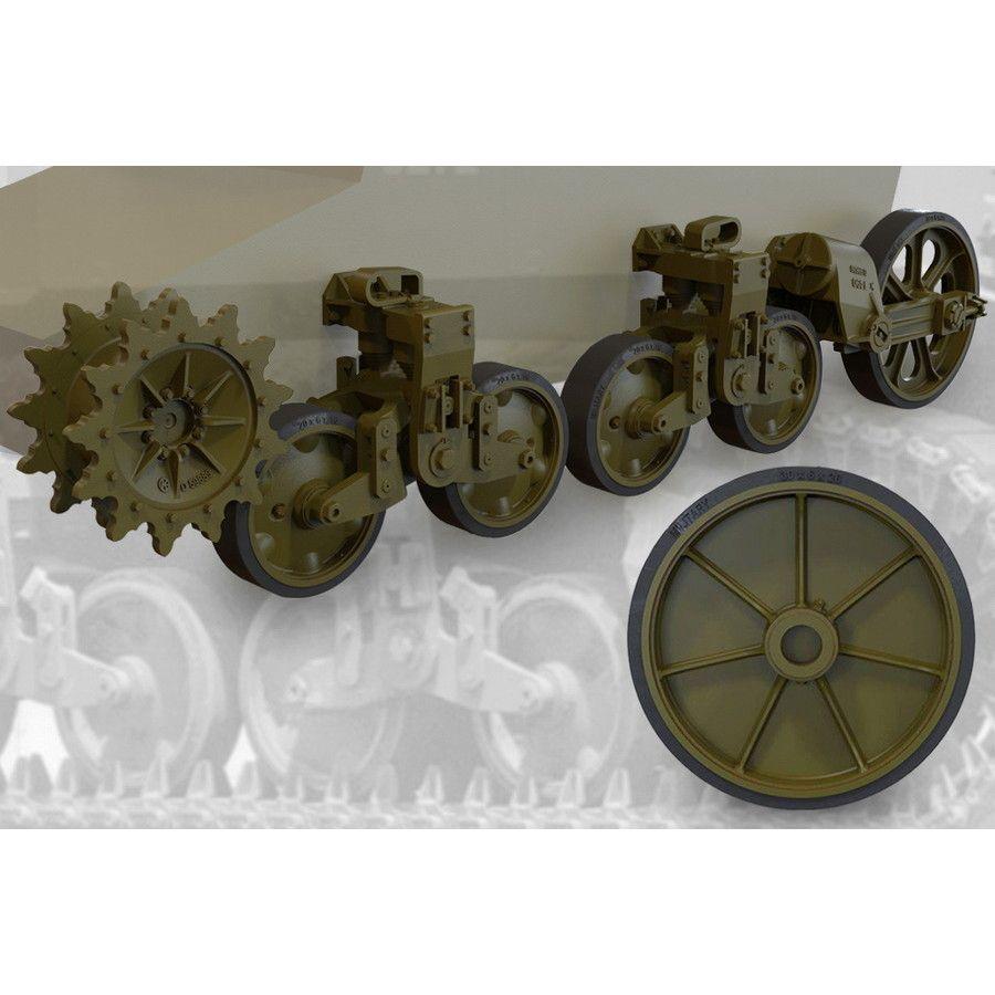 【新製品】FM35015 M5A1軽戦車/M8自走砲後期型用転輪&サスペンションセット