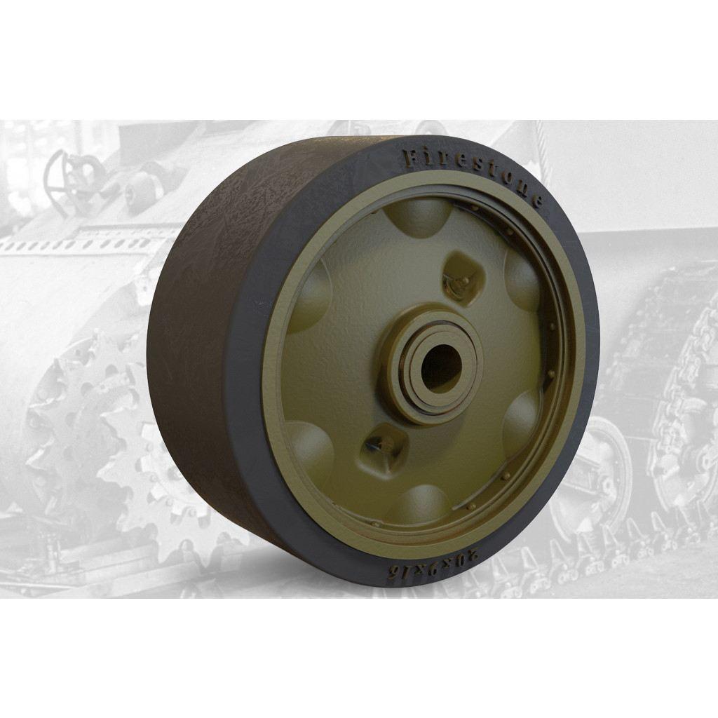 【新製品】FM35023 M3リー/M4シャーマン戦車 VVSS用スタンプスポーク(プレス型)転輪(初期型)セット