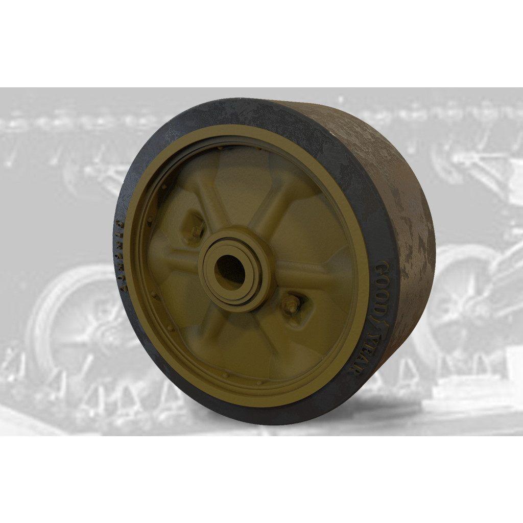 【新製品】FM35025 M4シャーマン戦車 VVSS用スタンプスポーク(プレス型)転輪(C85163)セット