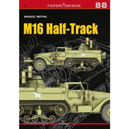 【新製品】TOPDRAWINGS 7088 アメリカ M16 ハーフトラック