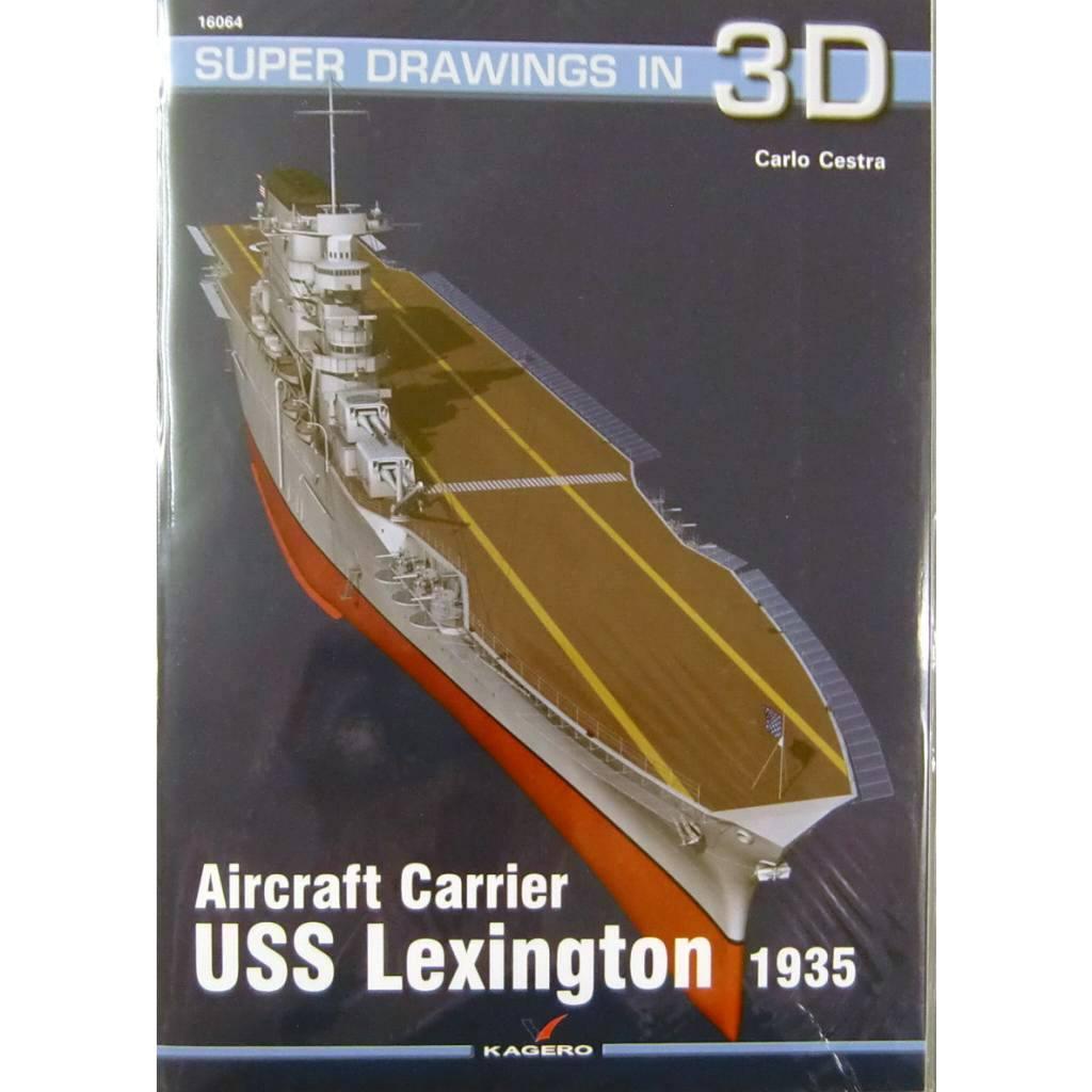 【新製品】SUPER DRAWINGS IN 3D 16064 米海軍 航空母艦 レキシントン 1935