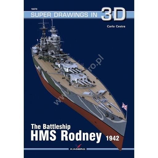 【新製品】SUPER DRAWINGS IN 3D 16070 英海軍 戦艦 ロドニー