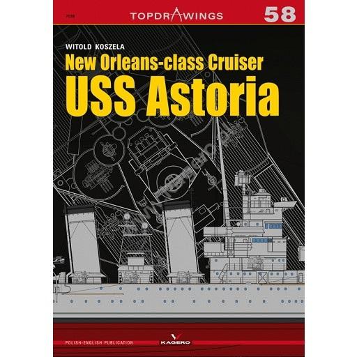 【新製品】TOPDRAWINGS 7058 アメリカ ニューオーリンズ級重巡洋艦 アストリア CA-34