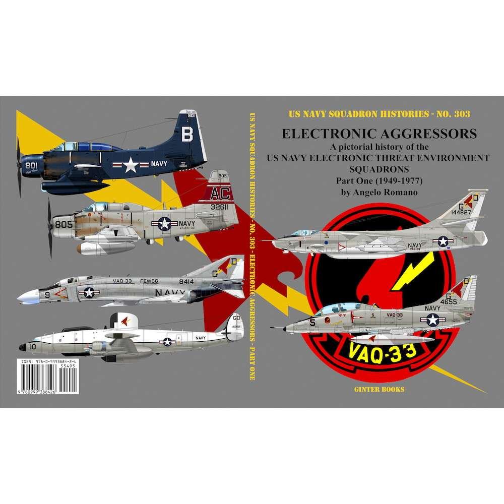 【新製品】米海軍飛行隊史 303 電子戦アグレッサー 米海軍の電子戦訓練部隊 パート1 1949年-1977年