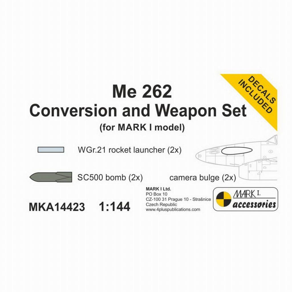 【新製品】MKA14423 Me262用武装&Me262A-1/U3偵察機改造パーツセット
