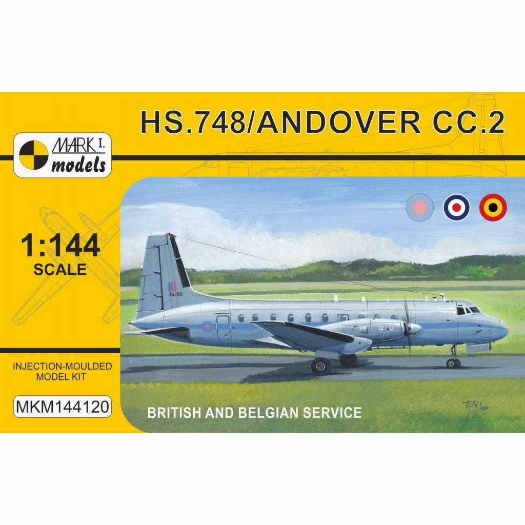 【新製品】MKM144120 アブロ HS.748 アンドーヴァー CC.2 戦術輸送機 「イギリス・ベルギー」
