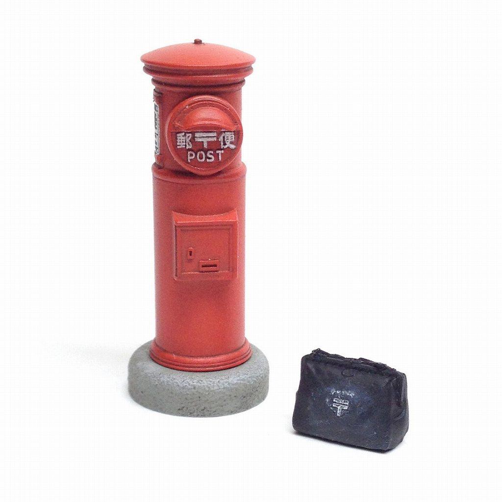【新製品】TAS-04 『丸い郵便ポスト』組み立てキット(未塗装)