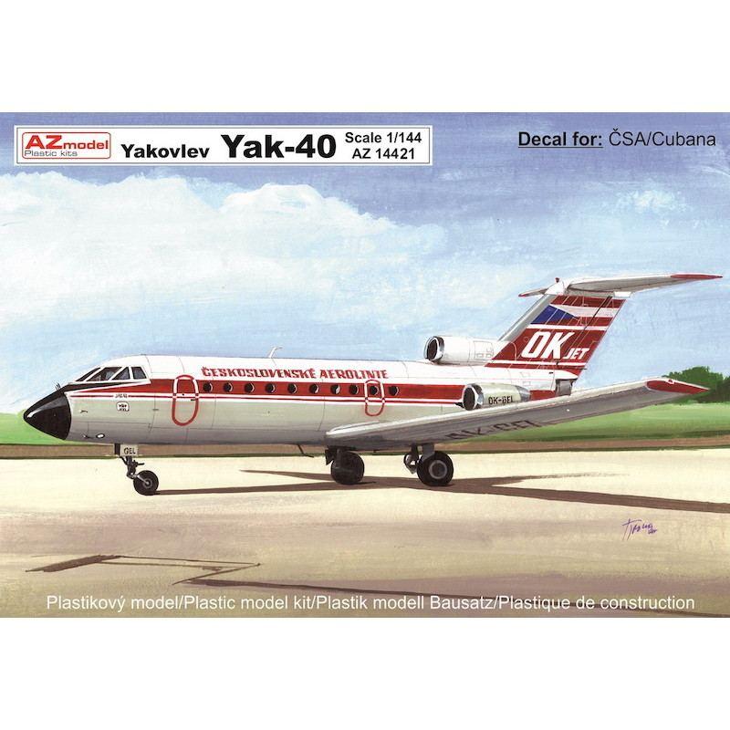 【新製品】AZ14421 Yak-40 旅客機 「チェコ航空、クバーナ航空」