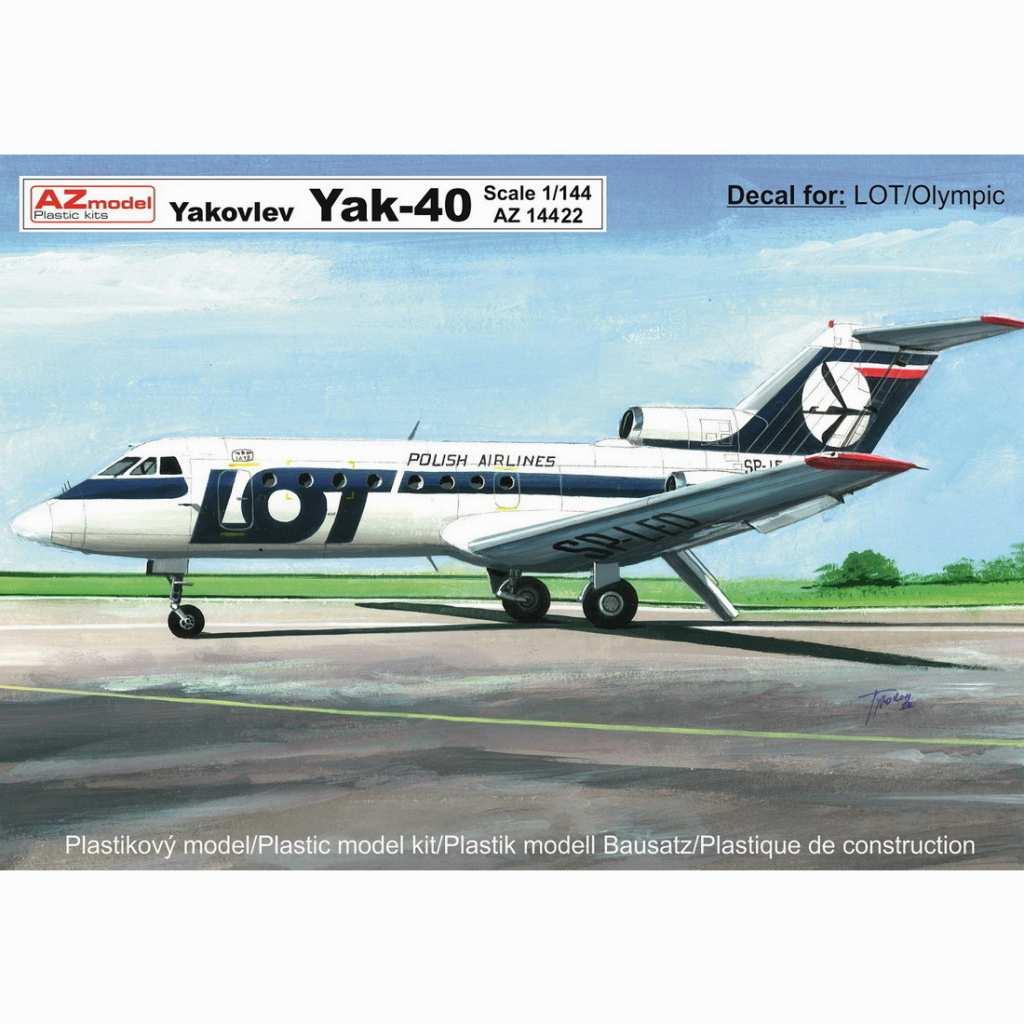 【新製品】AZ14422 Yak-40 旅客機「LOTポーランド航空、オリンピック航空」