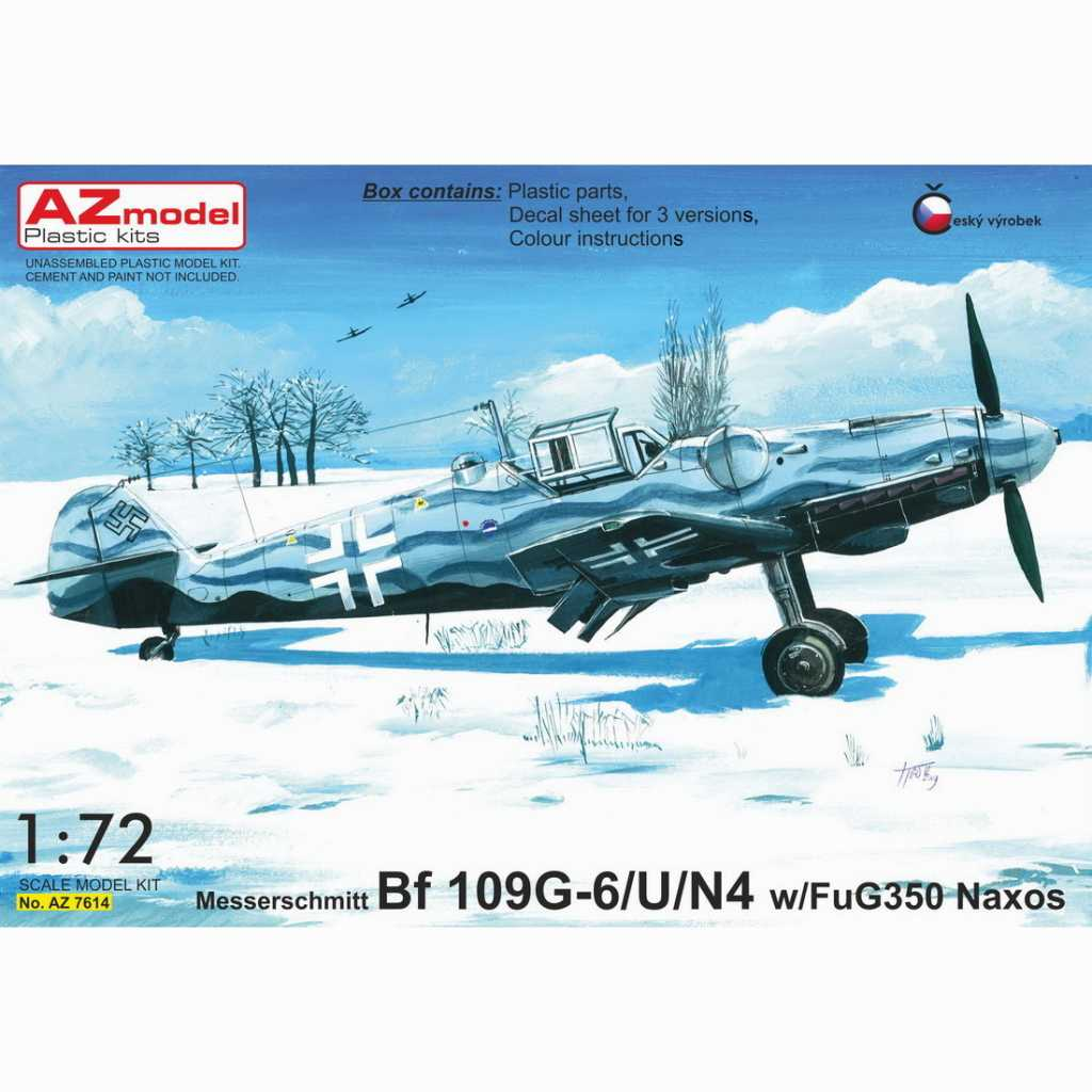 【新製品】AZ7614 メッサーシュミット Bf109G-6/U/N4 夜間戦闘機 w/FuG350 Naxos レーダー探知機