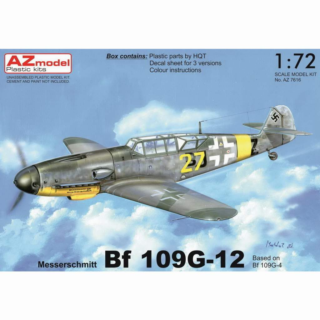 【新製品】AZ7616 メッサーシュミット Bf109G-12 (G-4ベース型)