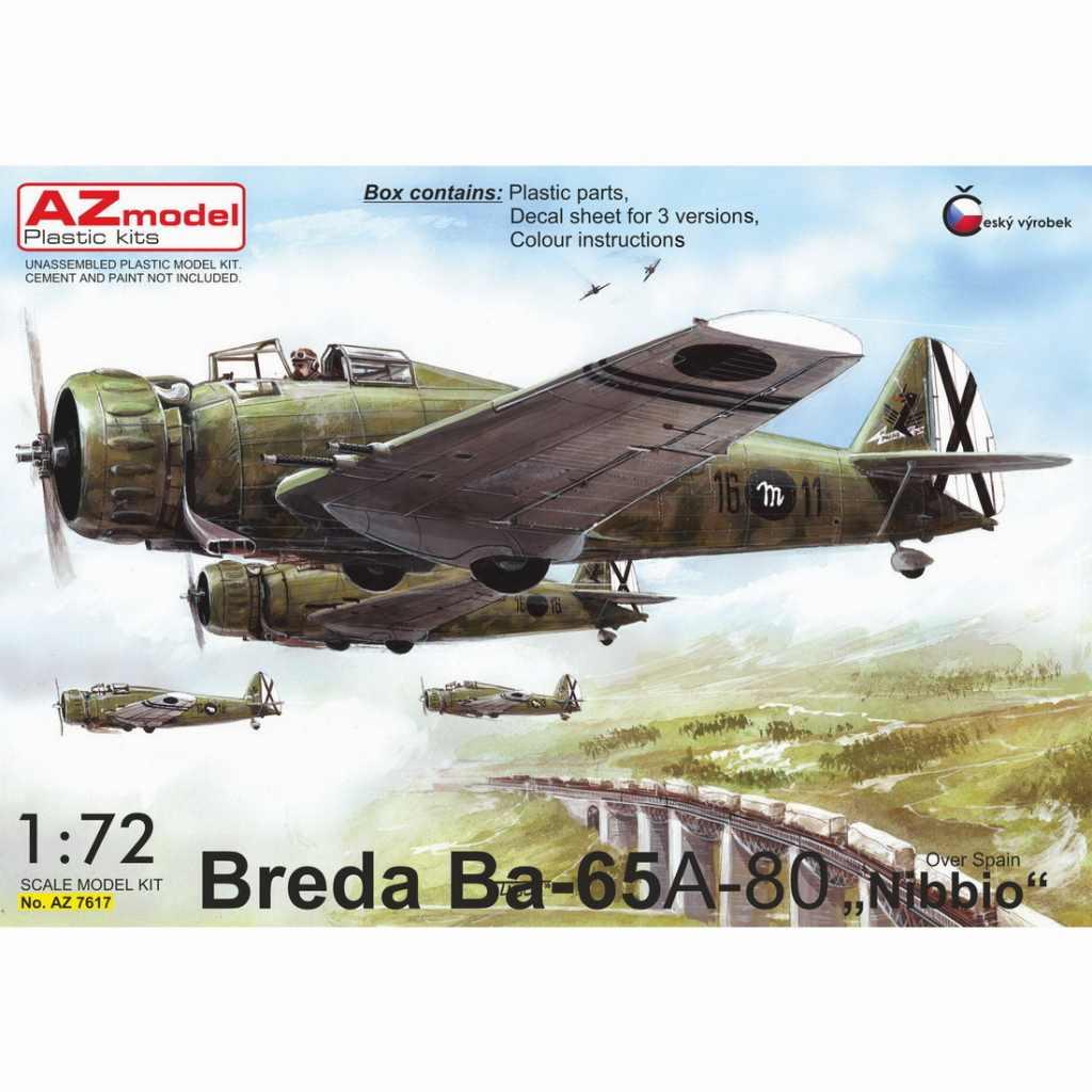 【新製品】AZ7617 ブレダ Ba65 フィアットA-80エンジン搭載機 「スペイン内戦」