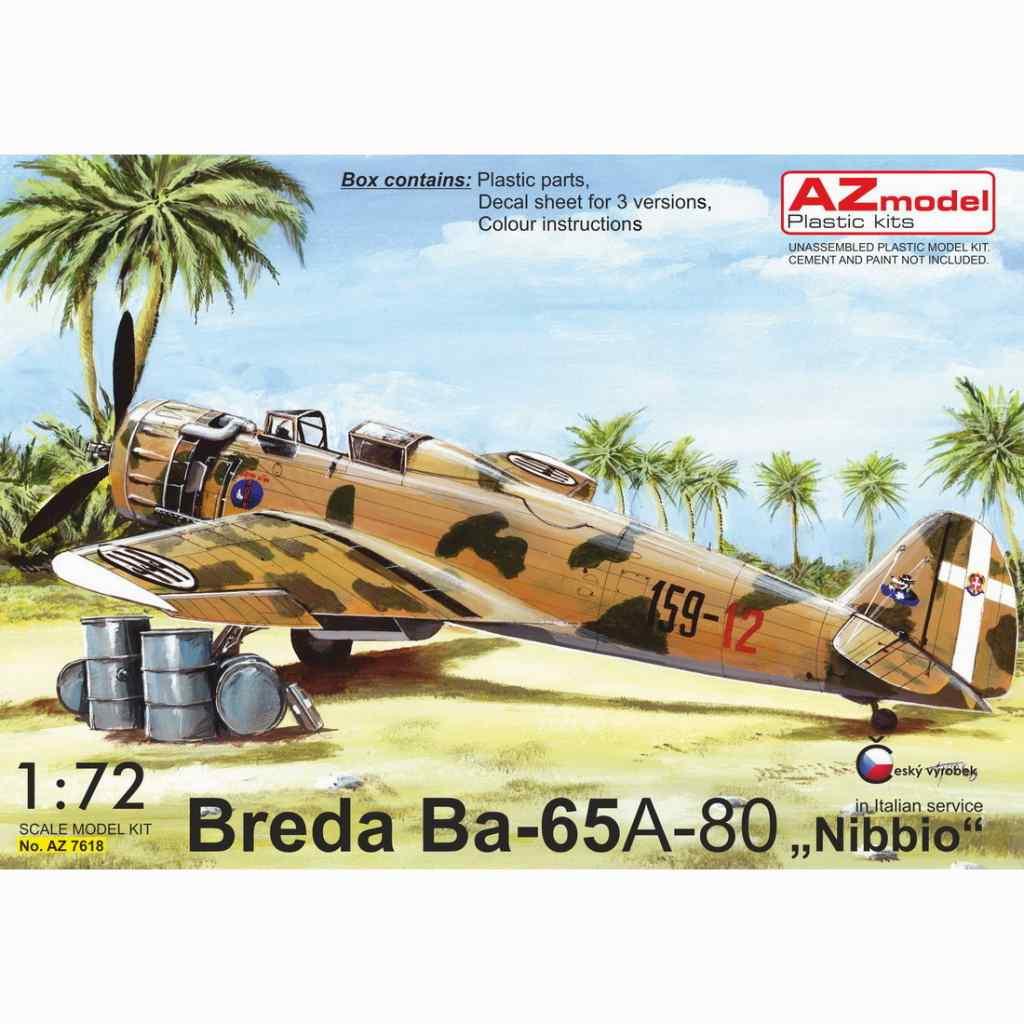 【新製品】AZ7618 ブレダ Ba65 フィアットA-80エンジン搭載機 「イタリア」
