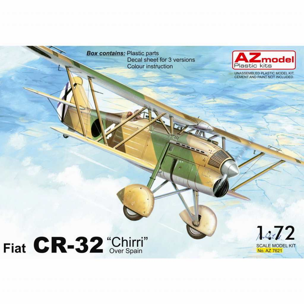 【新製品】AZ7621 フィアット CR.32 「スペイン内戦」