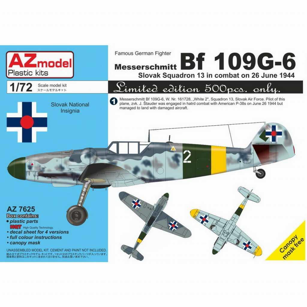 【新製品】AZ7625 メッサーシュミット Bf109G-6 「スロバキア」 リミテッドエディション