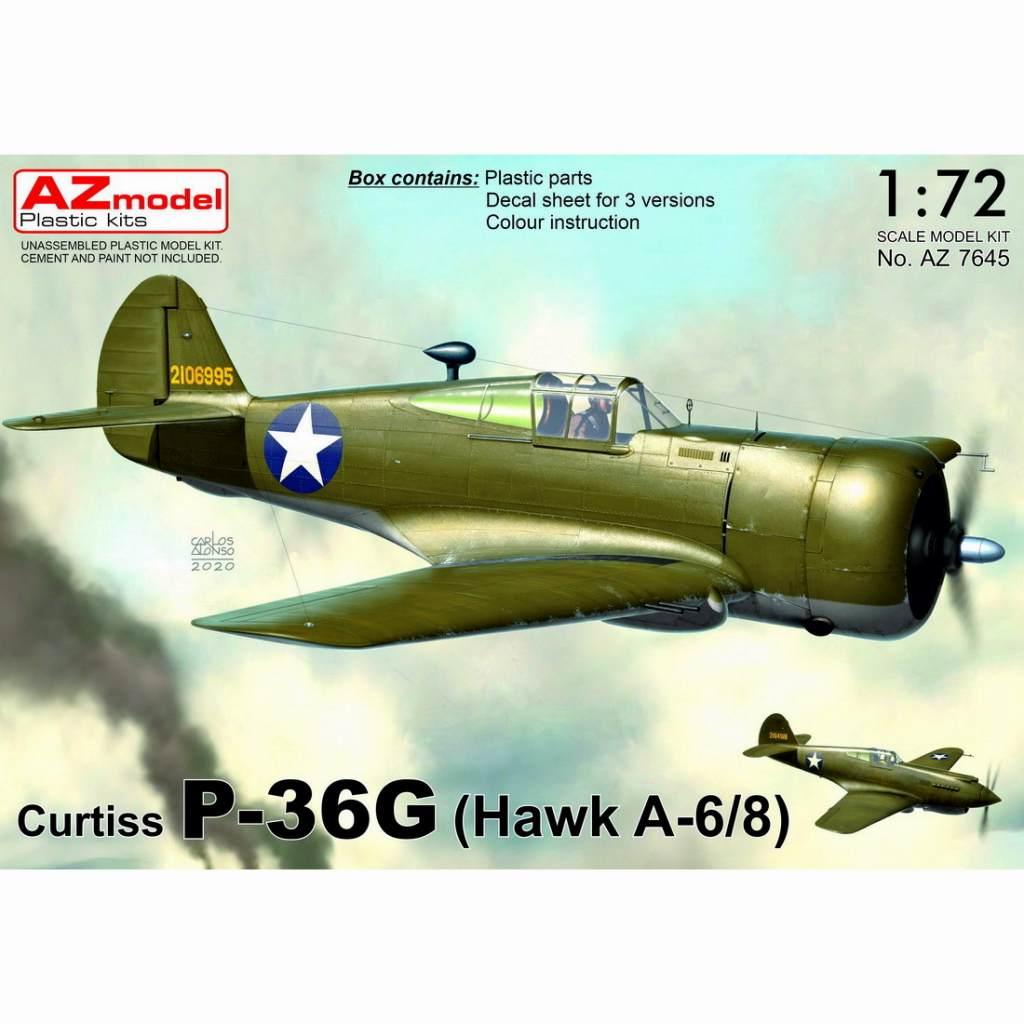 【新製品】AZ7645 カーチス ホーク P-36G(H-75A-6/8)