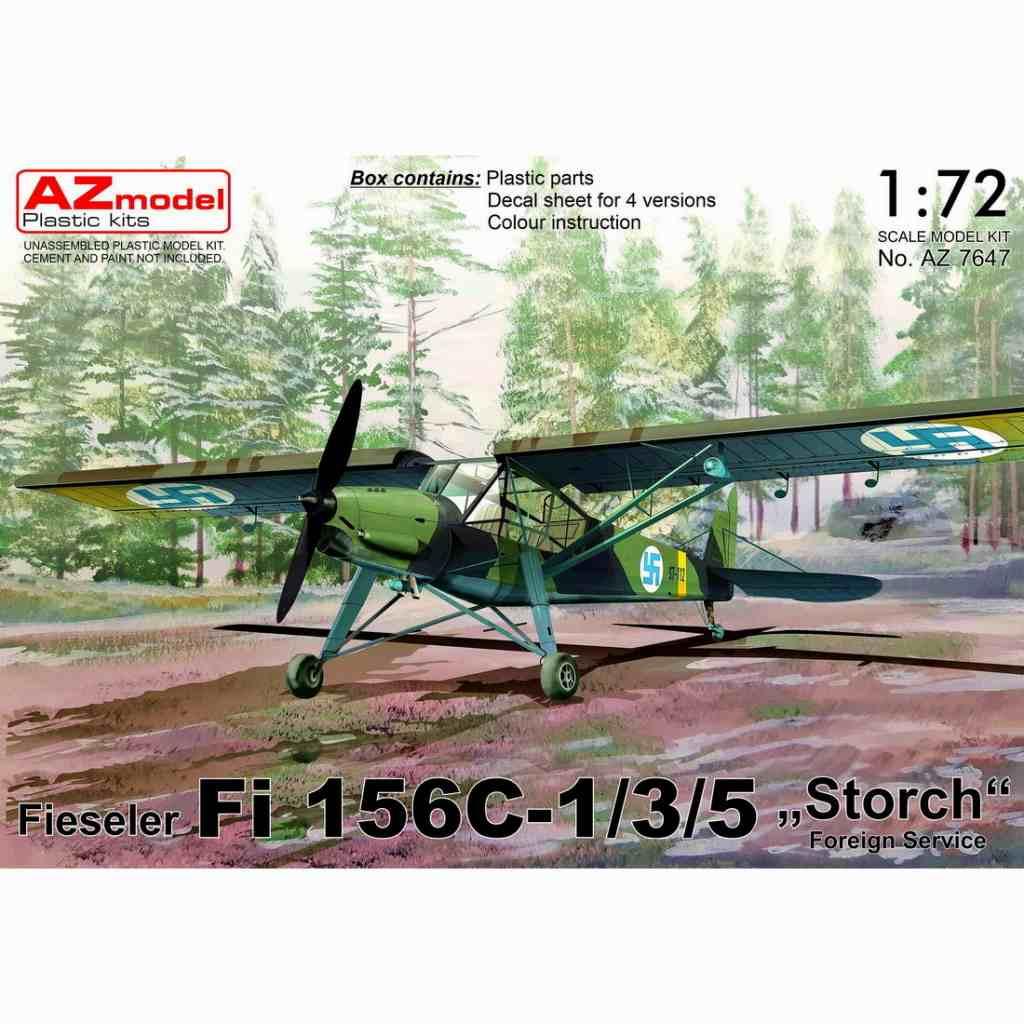 【新製品】AZ7647 フィゼラー Fi156C-1/3/5 シュトルヒ 「海外仕様」