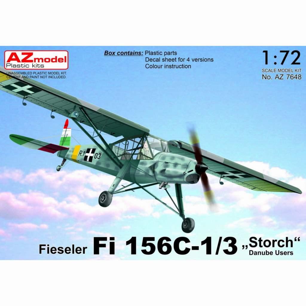 【新製品】AZ7648 フィゼラー Fi156C-1/3 シュトルヒ 「ドナウ川流域国」