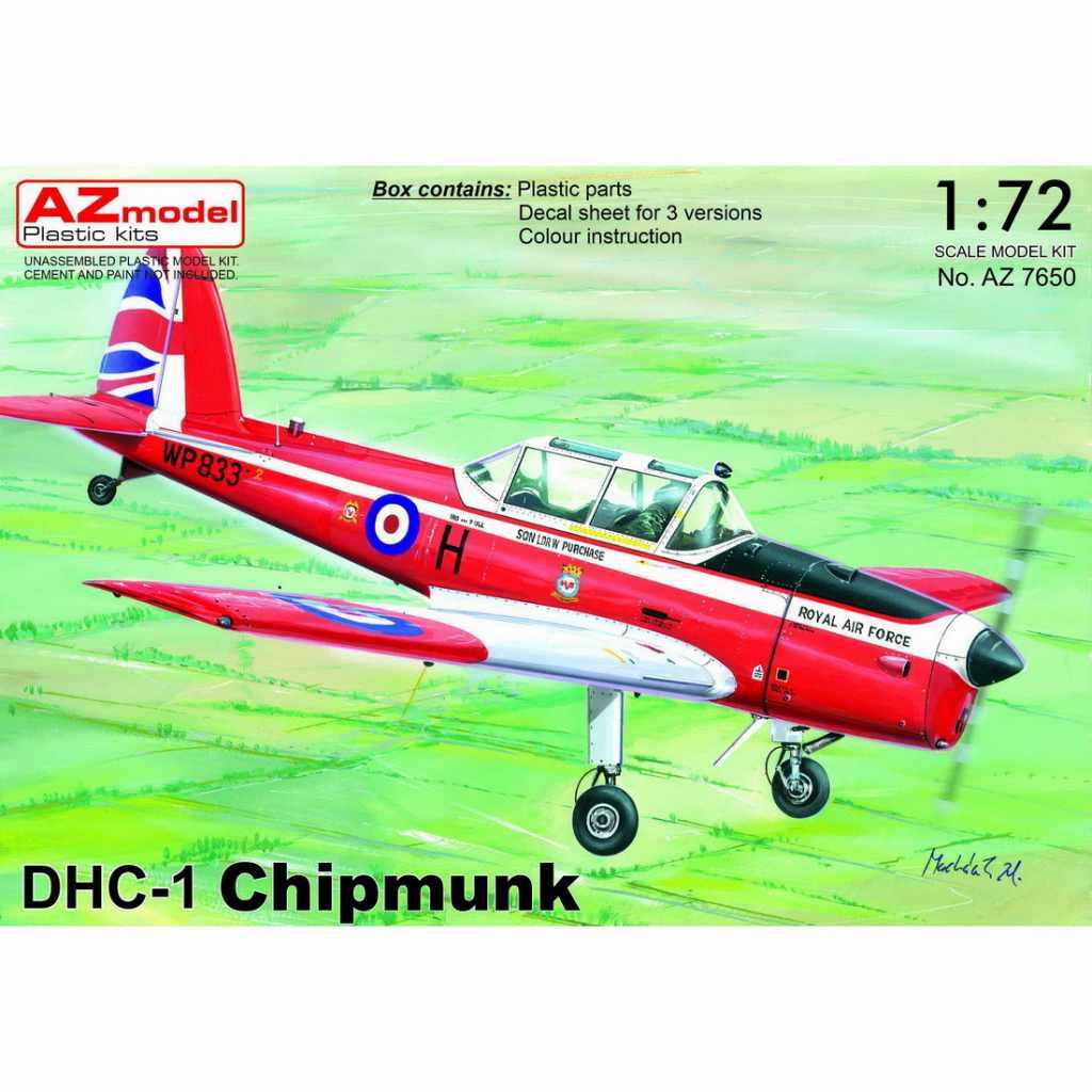 【新製品】AZ7650 デ・ハビランド DHC-1 チップマンク