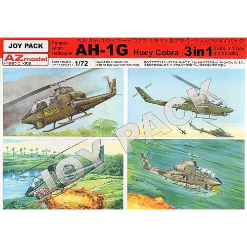 【新製品】AZ7702 AH-1G ヒューイコブラ プラパーツ 3キットセット デカールは付属しません
