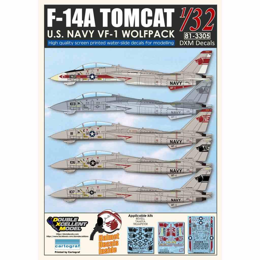 【新製品】DXM Double Excellent Model 81-3305 F-14A トムキャット VF-1 ウルフパック