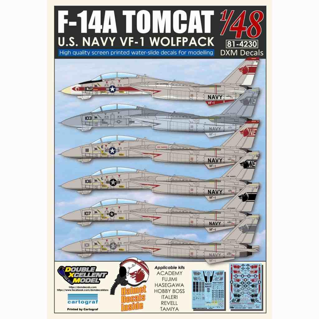 【新製品】DXM Double Excellent Model 81-4230 F-14A トムキャット VF-1 ウルフパック