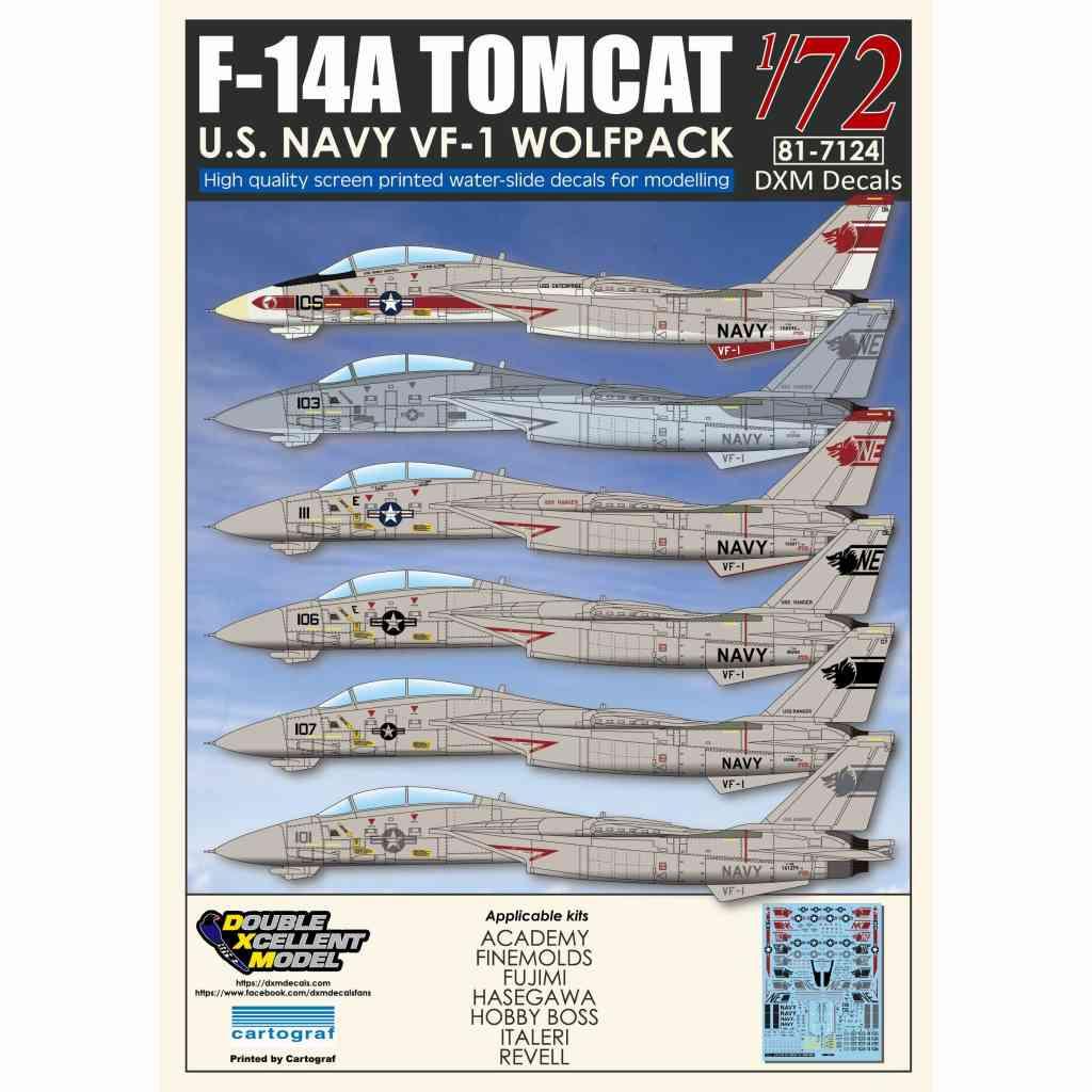 【新製品】DXM Double Excellent Model 81-7124 F-14A トムキャット VF-1 ウルフパック
