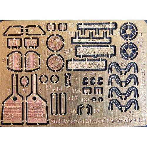 【新製品】NHディテール 144-025 SE-210 シュド・カラベルVI-N ディテールセット