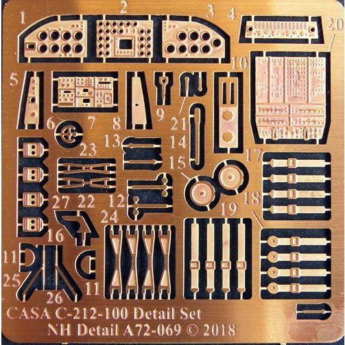 【新製品】NHディテール A72-069 CASA C-212-100 エッチングパーツ(スペシャルホビー用)