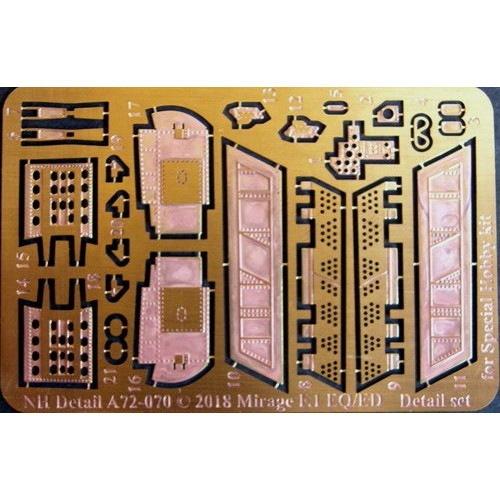 【新製品】NHディテール A72-070 ダッソー ミラージュF1 EQ/ED エッチングパーツ(スペシャルホビー用)