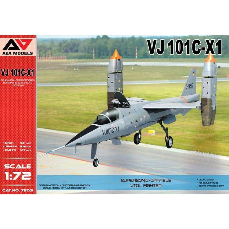 【新製品】A&Aモデル 7203 EWR VJ101C-X1 試作超音速VTOL戦闘機
