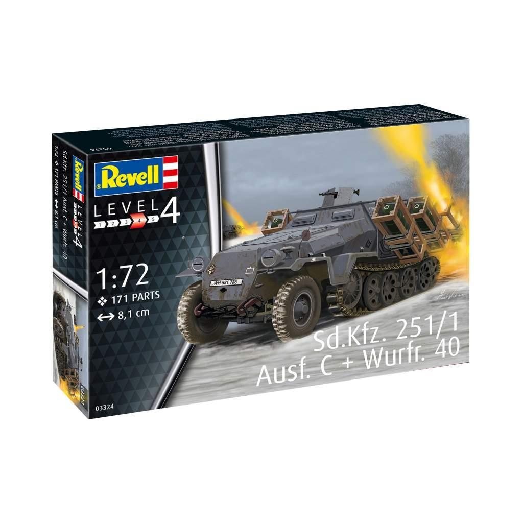【新製品】03324 Sd.Kfz.251/1 Ausf.C ヴルフラーメン40装備型