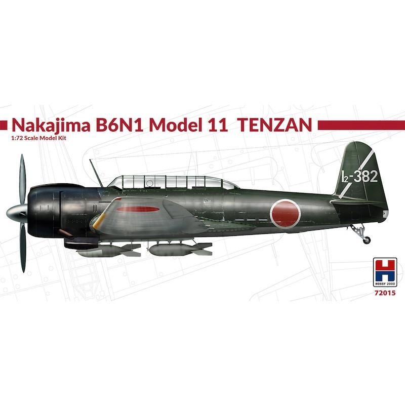 【新製品】ホビー2000 72015)中島 B6N1 艦上攻撃機 天山 一一型