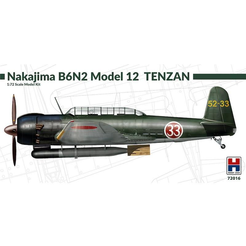【新製品】ホビー2000 72016)中島 B6N1 艦上攻撃機 天山 一二型