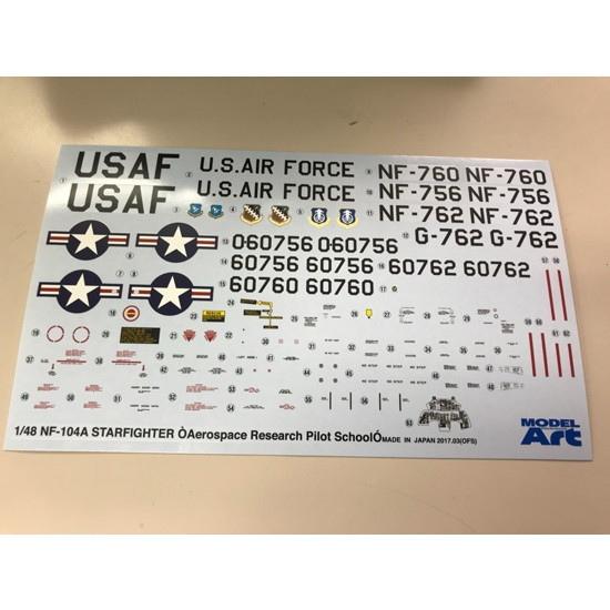 【再入荷】【アウトレット】アメリカ空軍 スペーストレーナー NF-104A デカール