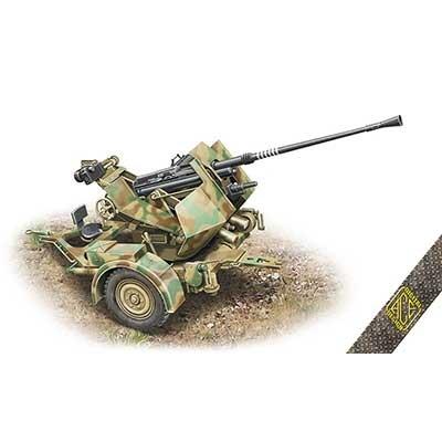 【新製品】72570 独 3.7cmFlak36 対空機関砲&Sd.Ah.52トレーラー