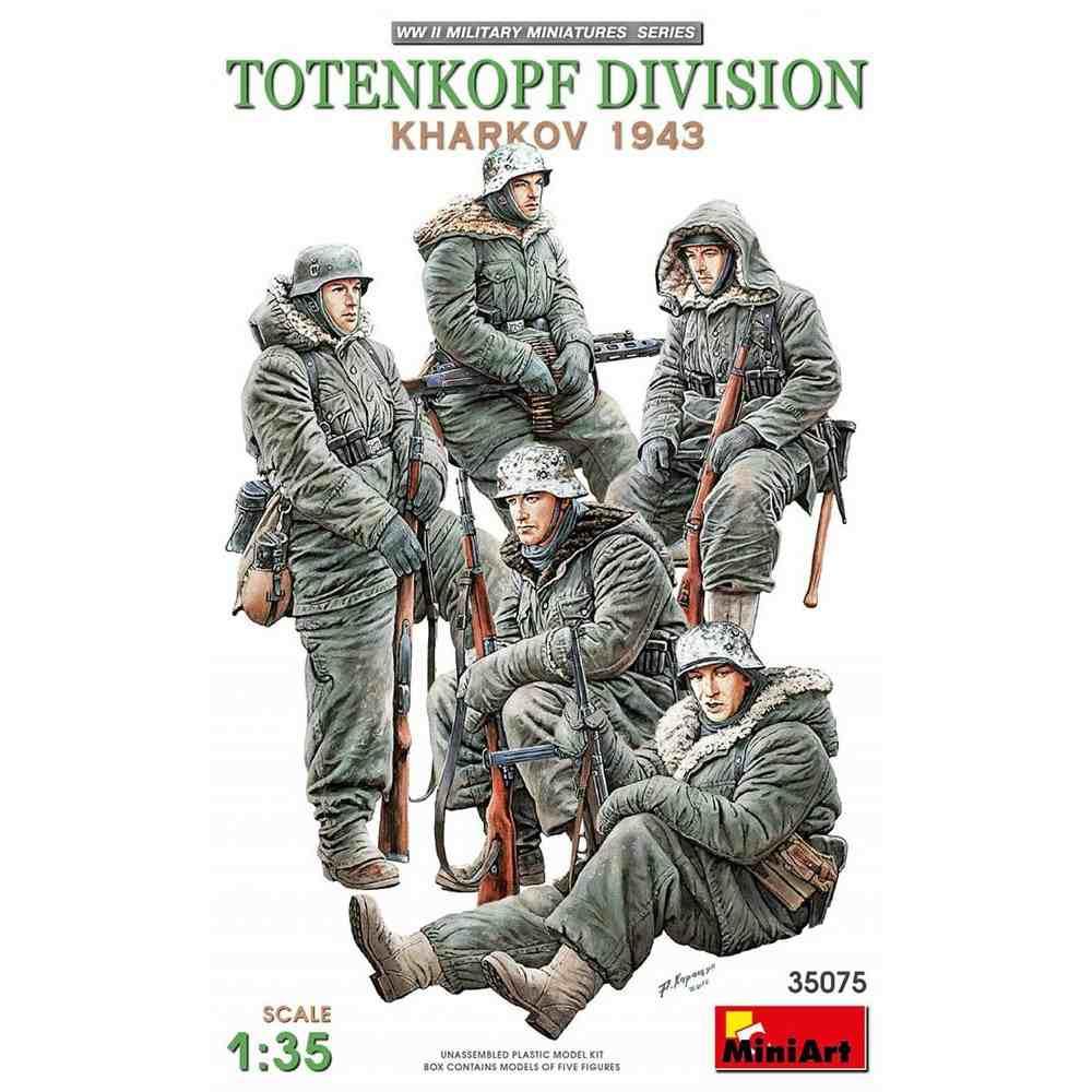 【新製品】35075 WWII トーテンコップ師団兵5体入(ハリコフ攻防戦1943)