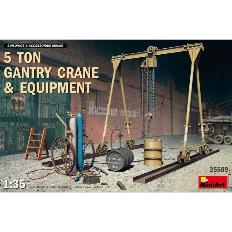 【新製品】35589 5トン ガントリークレーン&機材各種