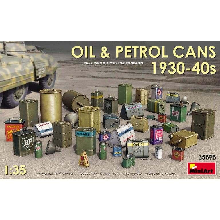 【新製品】35095 油&石油缶セット1930-40年代