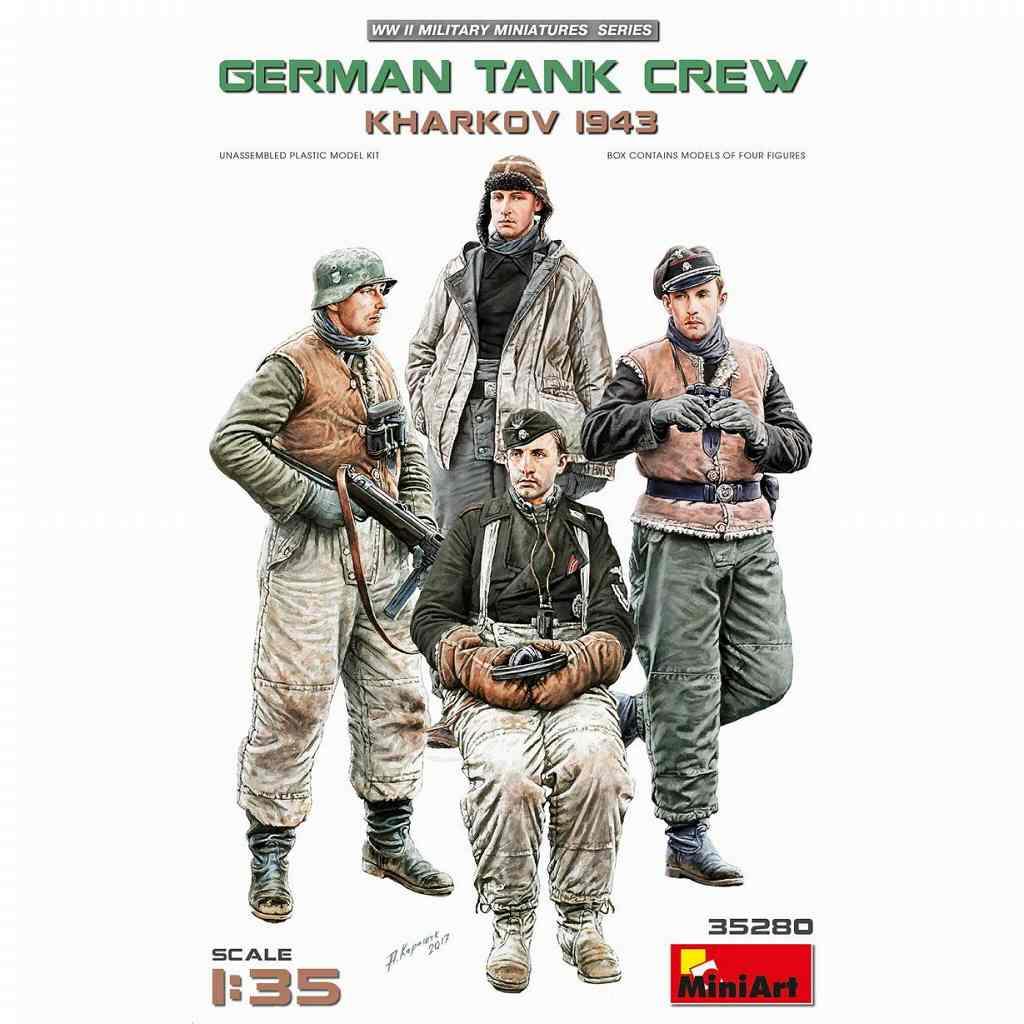 【新製品】35280 ドイツ戦車兵4体入(ハリコフ1943)