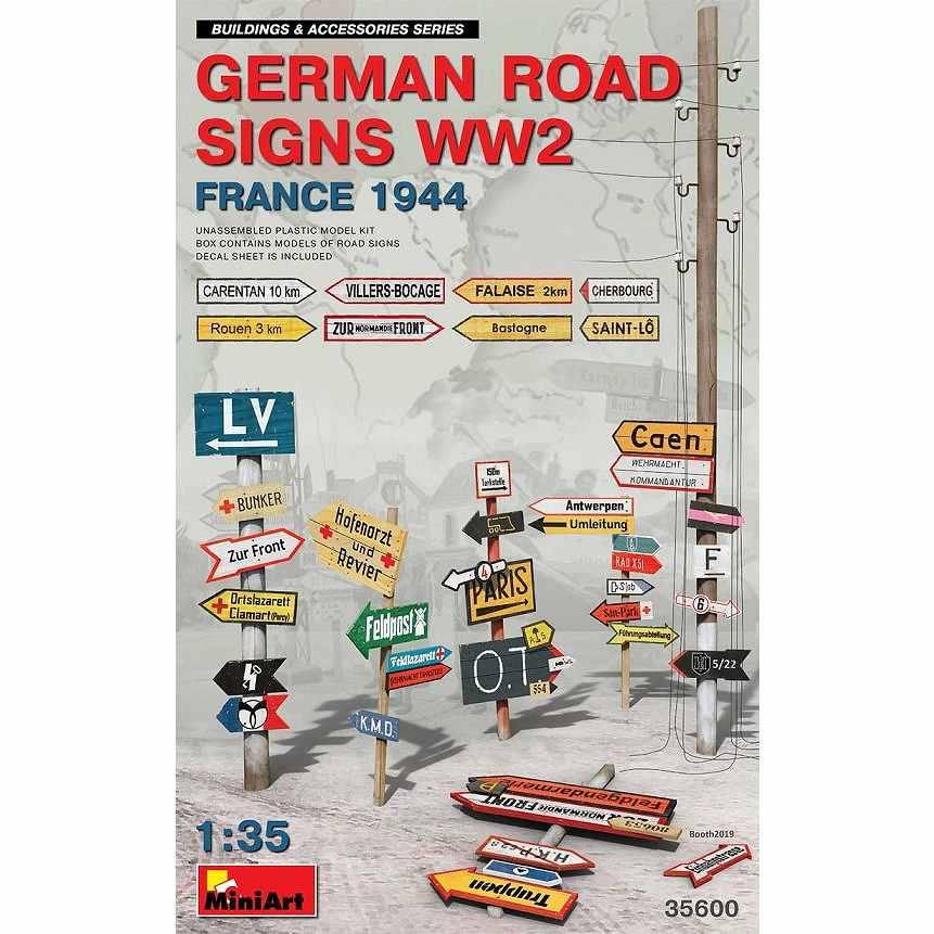 【新製品】35600 ドイツ道路標識WW2 (フランス1994)